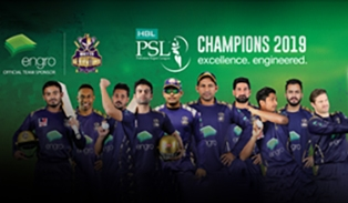 Engro sponsors Quetta Gladiators as title sponsors in PSL season 4 and wins the championship 11